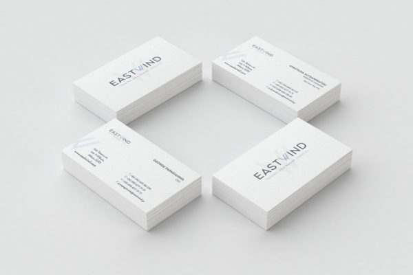 Eastwind Marine services business card design