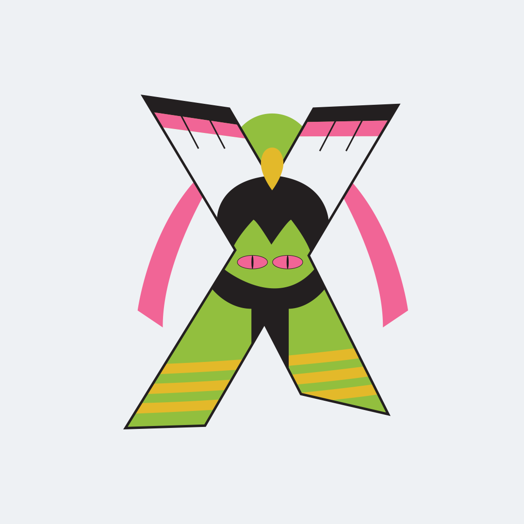 36 days of type challenge letter X for Xatu from Pokemon