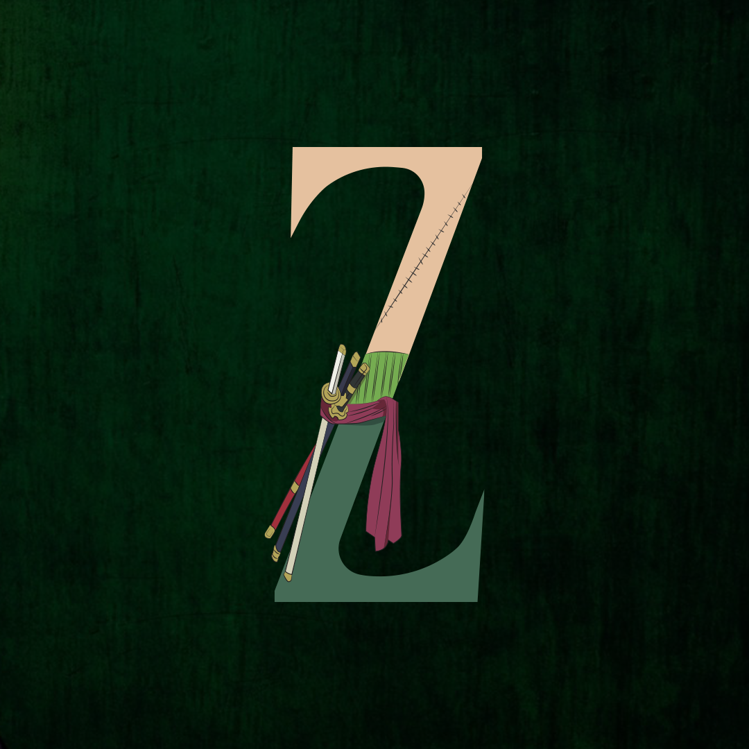 36 days of type challenge letter Z for Zoro from One Piece