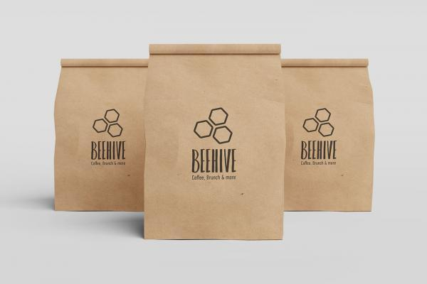 Paper bag design for cafe