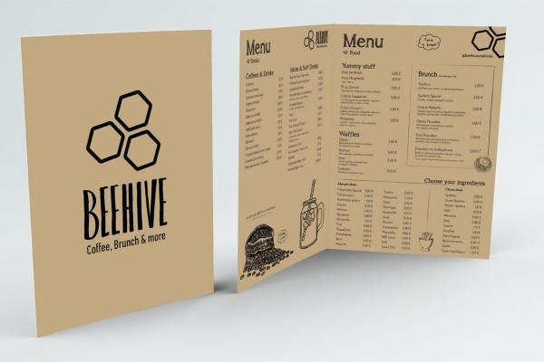 Catalgue and menu design for cafe