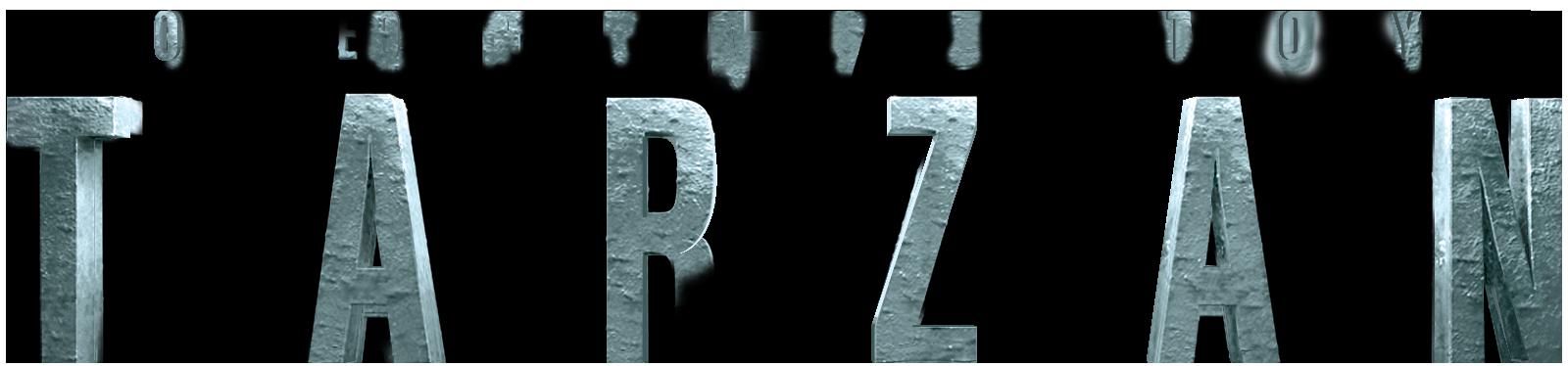 The Legend of Tarzan Greek title design for Netflix